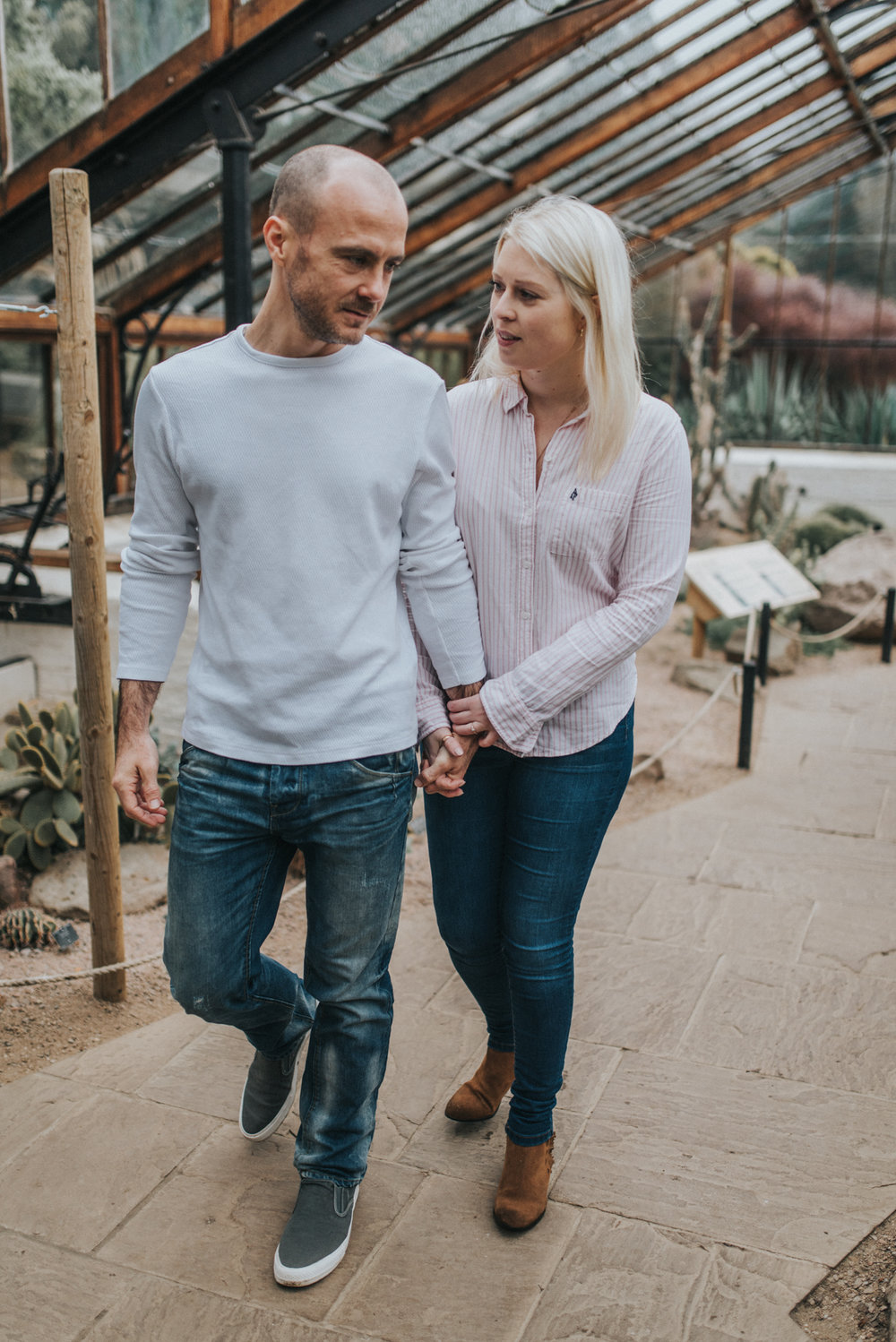 Beautiful couple holding hands