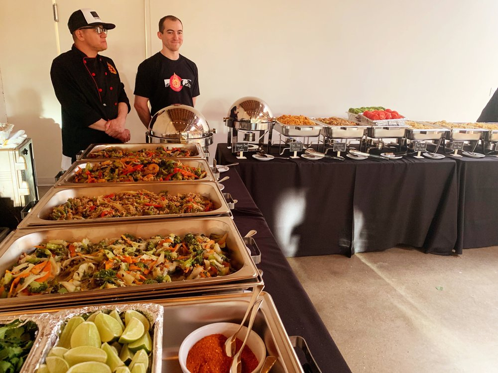 Off-Site Catering - Off-site full-service catering can be provided for your event at your desired location. Set up options vary depending on your needs. We can also provide staff members to serve at your location if needed.