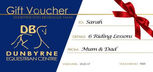dunbyrne equestrian voucher - Horseback Riding Lesson Gift Certificate Template