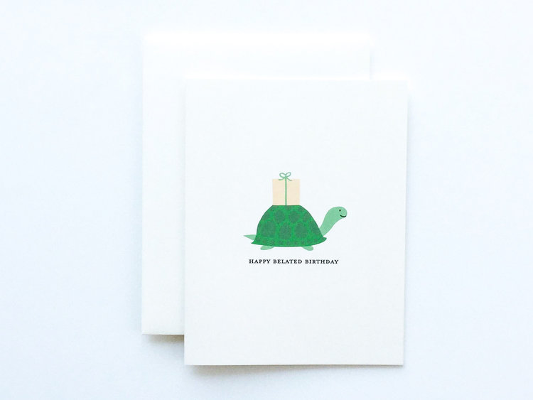 Belated Birthday Turtle Card Syd Sam