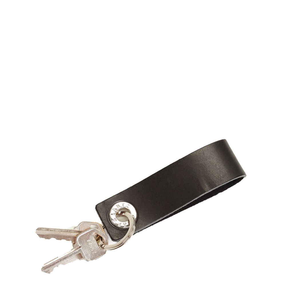 GrafLantz Key Fob Loop - Black Leather .jpg