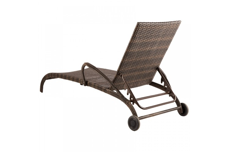 Tutto All-Weather Wicker Lounger from  Alfresco Home . In addition to the wheels, I like that this chaise lounge would work with a variety of design styles.