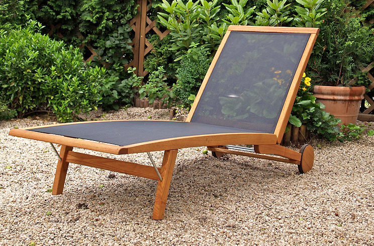 My current fave. The  Haste Garden Merlin Lounger . The material will dry fast after a burst of summer rain.