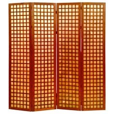 Mahogany Screen with Capiz Shell Inserts
