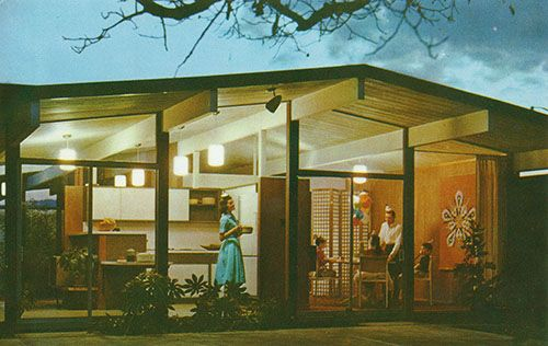 Eichler model home advertisement, c. 1960