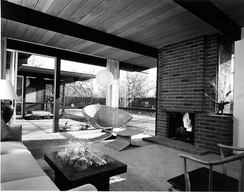 Eichler Home Interior c. 1960, Photo: Ernie Braun