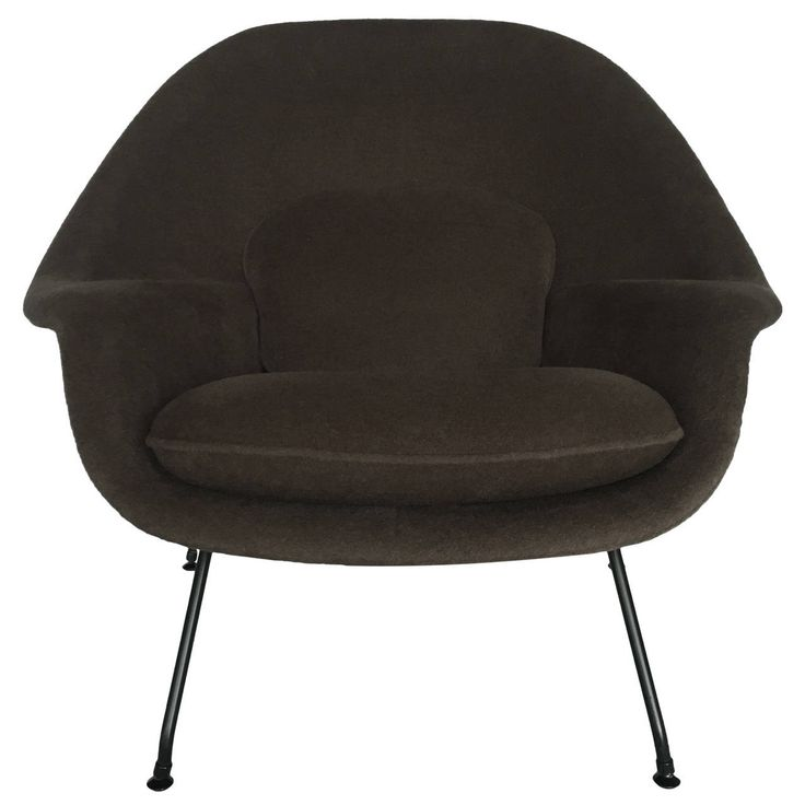 A vintage Saarinen Womb Chair, newly reupholstered with alpaca.  via  1stdibs.com