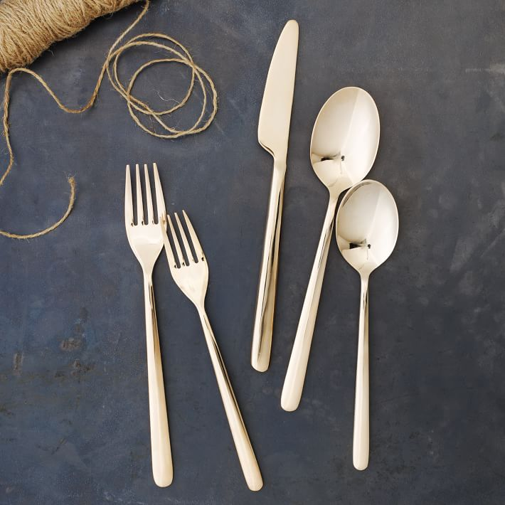 Rose Gold Flatware via  westelm.com