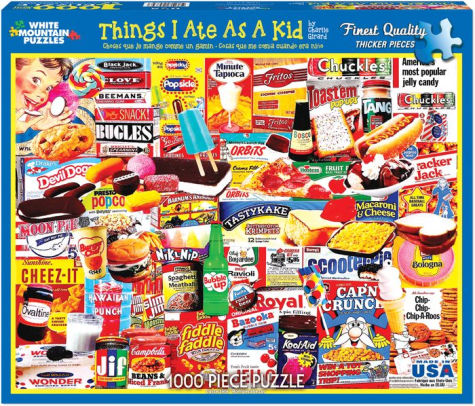 Complicated puzzles can be frustrating. Keep it fun and silly (but still challenging) with this 1000 piece set featuring classic American junk food.  Things I Ate puzzle, via BN.com.