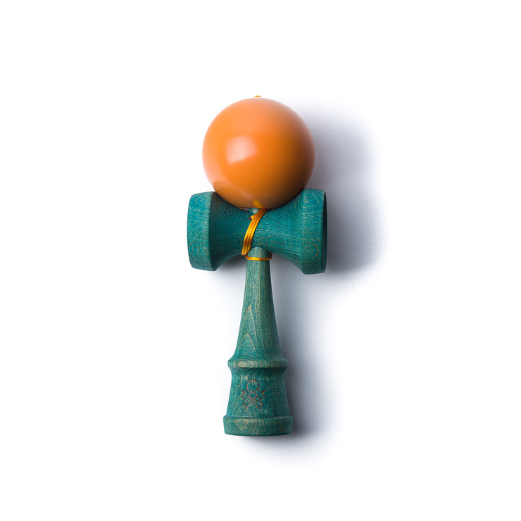 Playing with a kendama is addictive fun for older kids and adults. This teal and orange set from  Sweets Kendamas via Fab  is extra happy.