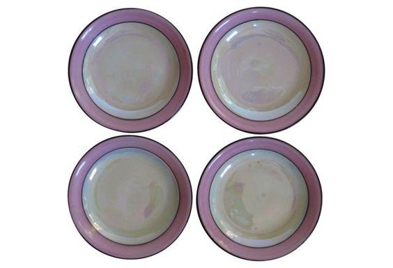 Porcelain Art Deco plates,  OKL
