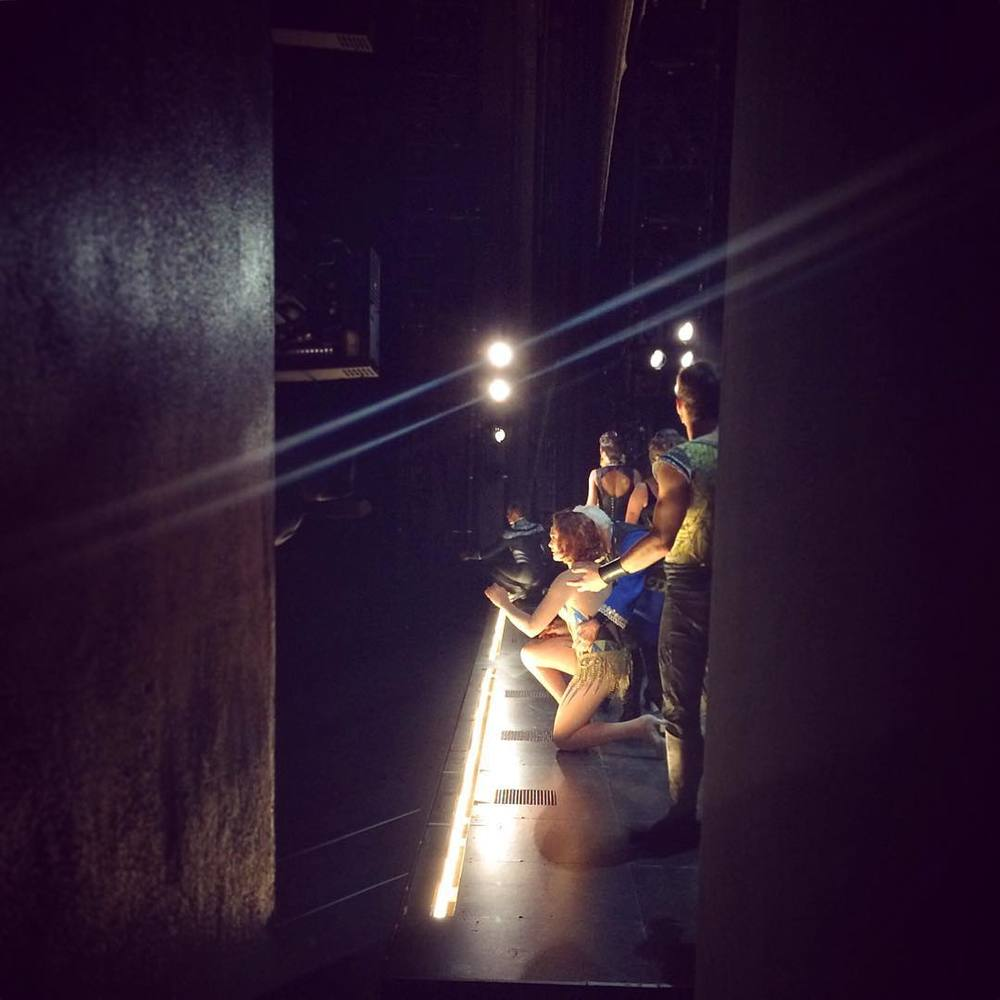 Backstage on the national tour of Pippin