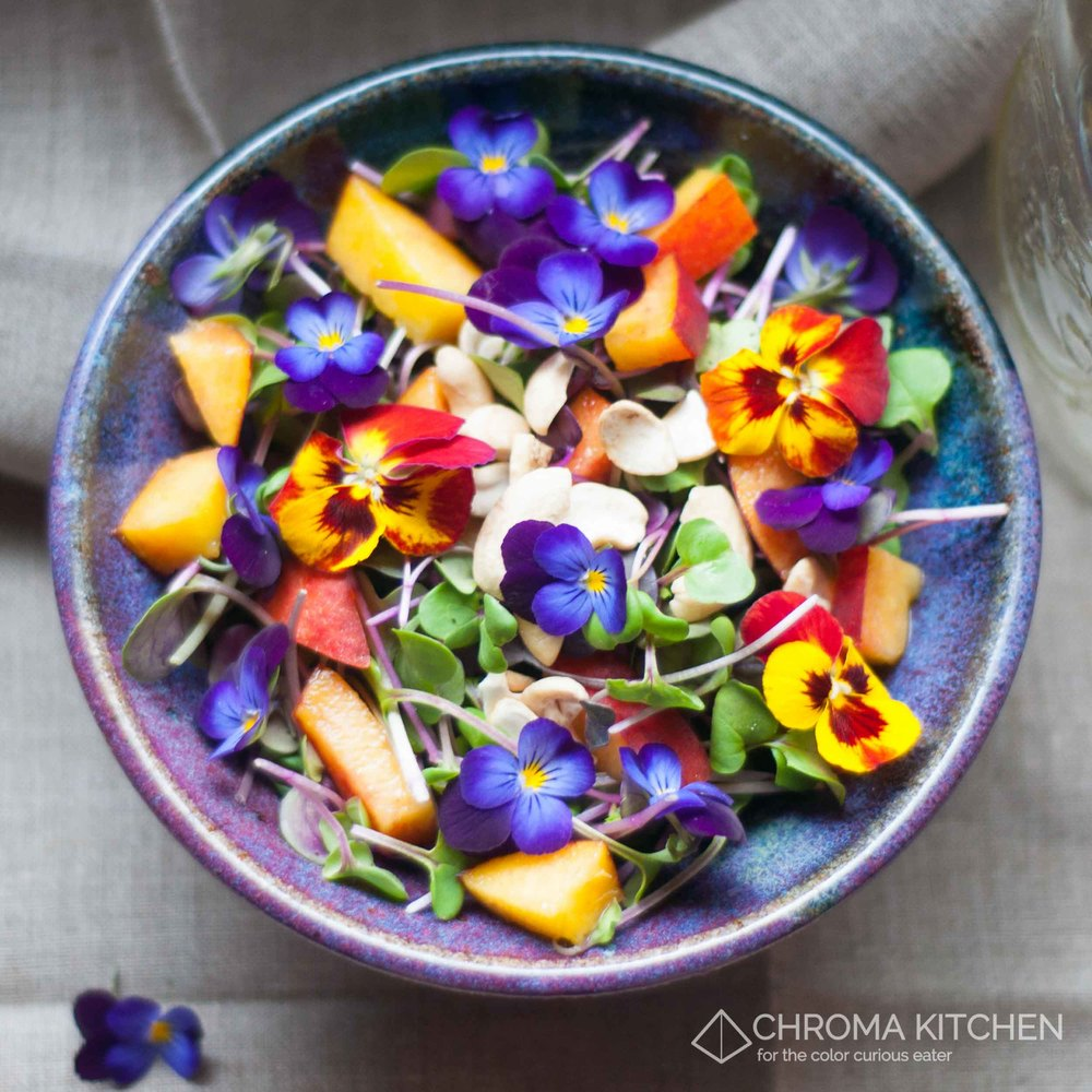 Edible-Flowers-Vegan-Spring-Salad