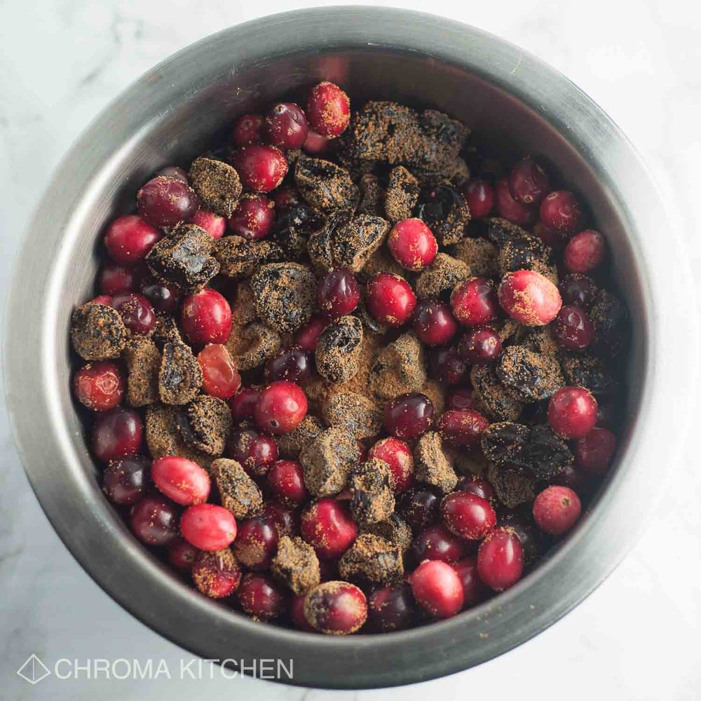 Cranberry-Sauce-Cherries-brown-sugar