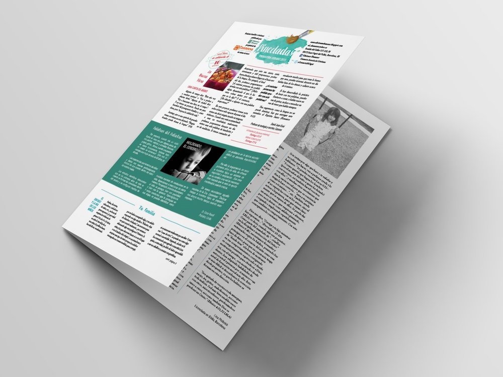 Layout and design for Pinceladas, a biannual Christian themed publication