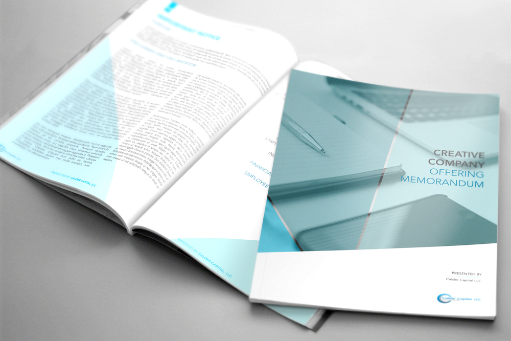 Report design and layout for Calder Capital