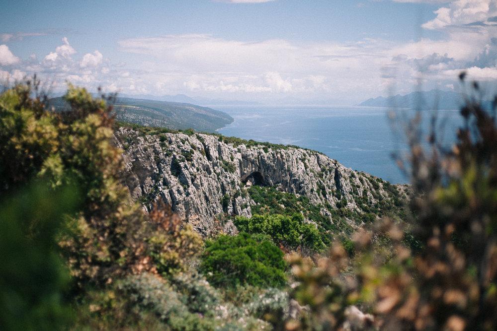 A cave above Gromin Dolac on the island of Hvar