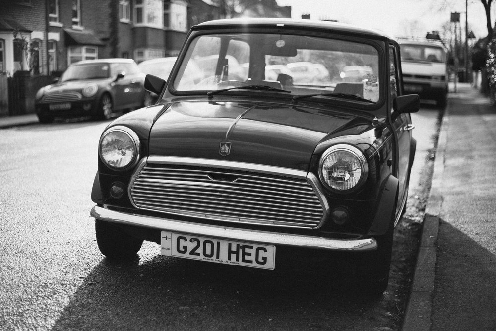 The classic Mini is comically small when you stand beside it!