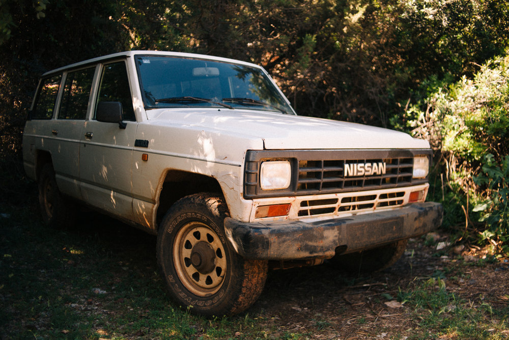 An old Nissan Patrol workhorse