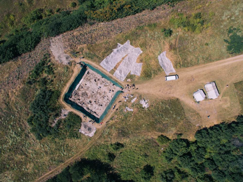 Here is a drone pic of an excavation near Százhalombatta I was working on