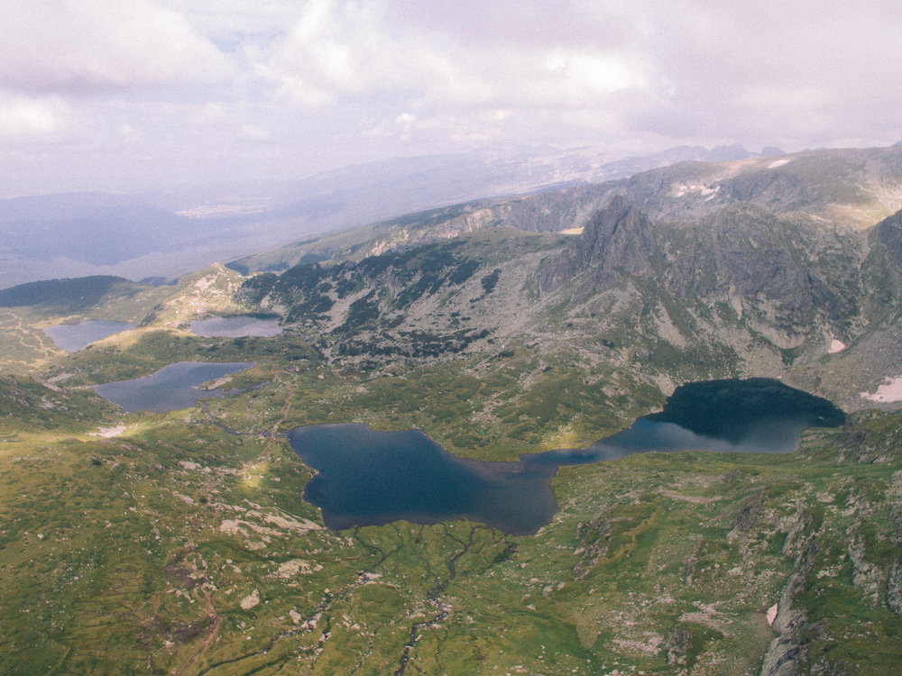 Some of the Rila Lakes visible in this drone shot I took