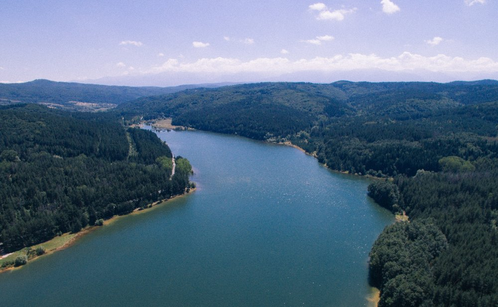 Iskar Reservoir from the air… actually it's way bigger, this is just a small corner of it!
