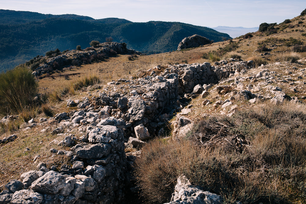 One of the many Spanish Civil War trenches scattered throughout the Sierra de Huétor