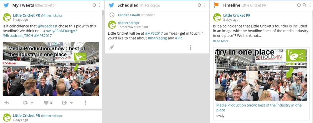 Marketing at trade shows - create a social schedule