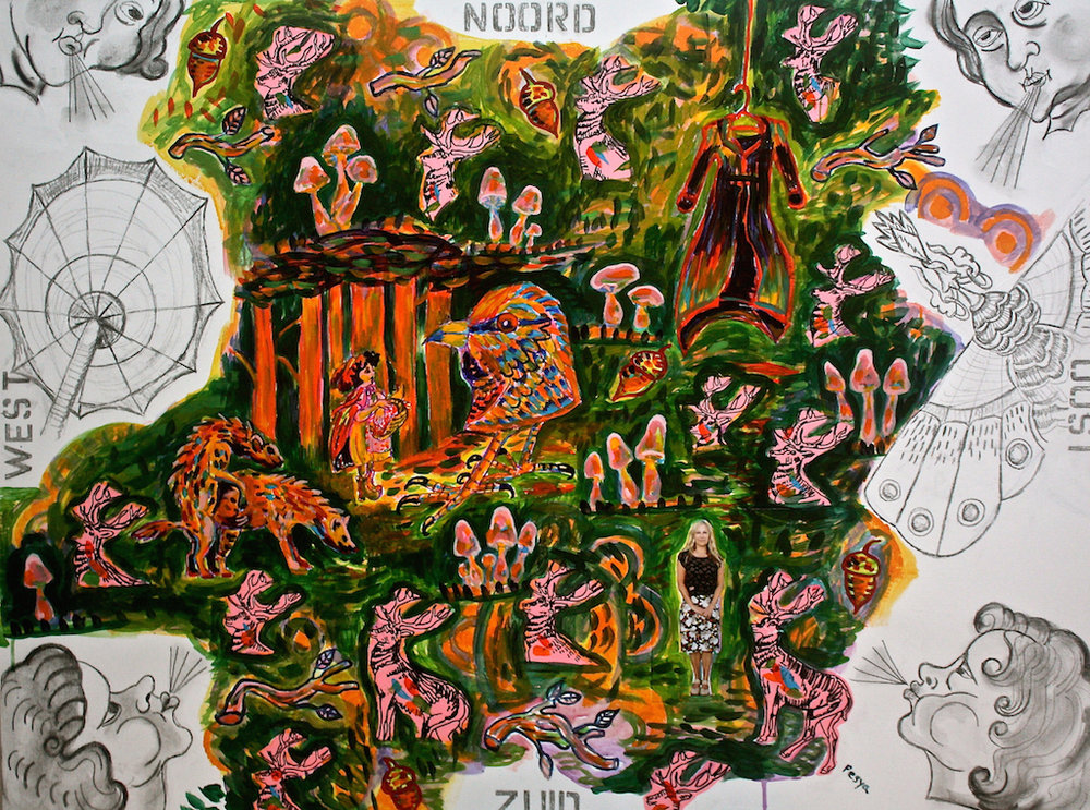 Map of the Woods/ Little Red Riding-Hood Meets the Wingless Bird