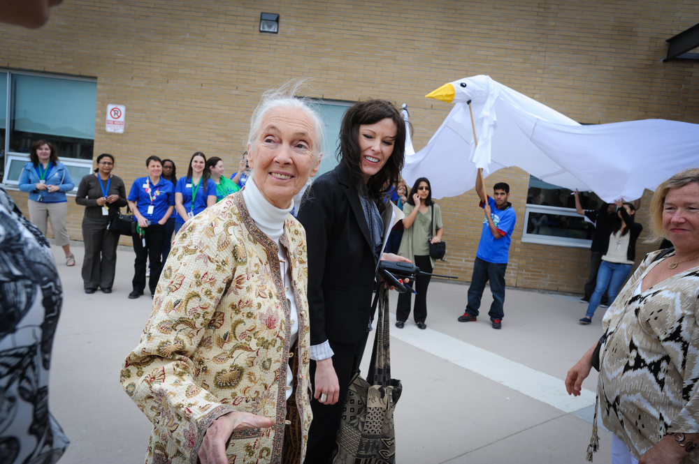 Jane Goodall and Carissa MacLennan, Lecture Tour 2013