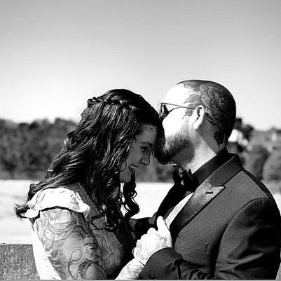 Happy 1st year anniversary to the love of my life @thetattooninja ❤️I cannot believe how fortunate i am to have found my human. I am blessed to continuously be able to grow and experience new things with you daily. You love me with all my faults, and make me feel like I truly want to be better for you each day-each year. Loving you is so effortless and easy, here's to forever with you. 🥂