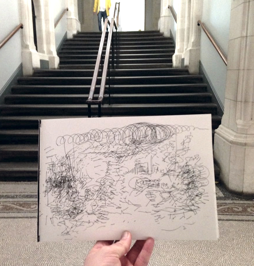 The sound of a staircase at the National Portrait Gallery, 4.58pm - 5.13pm, 4 September 2015