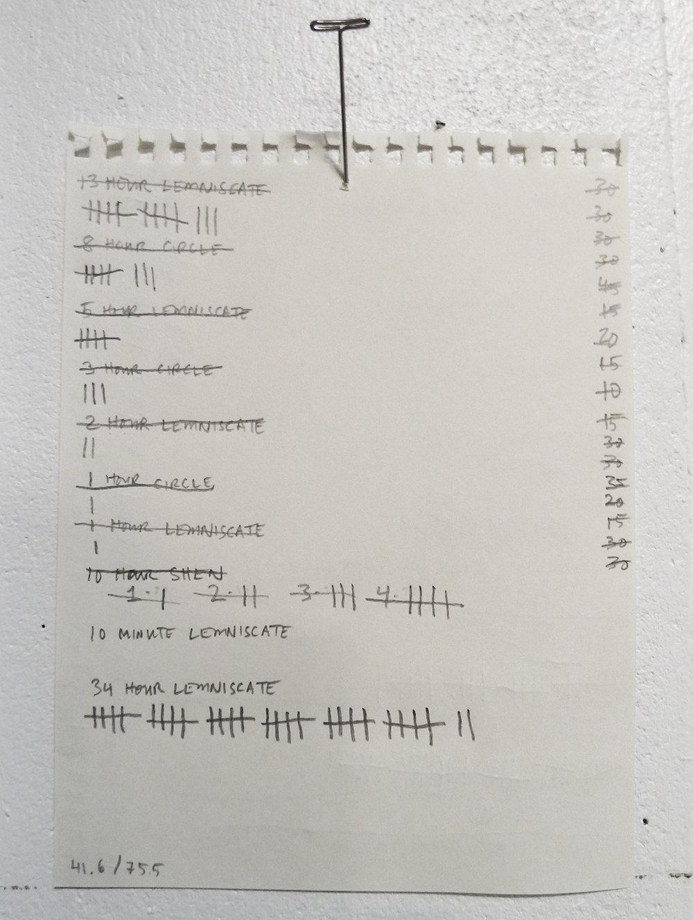 Studio time sheet