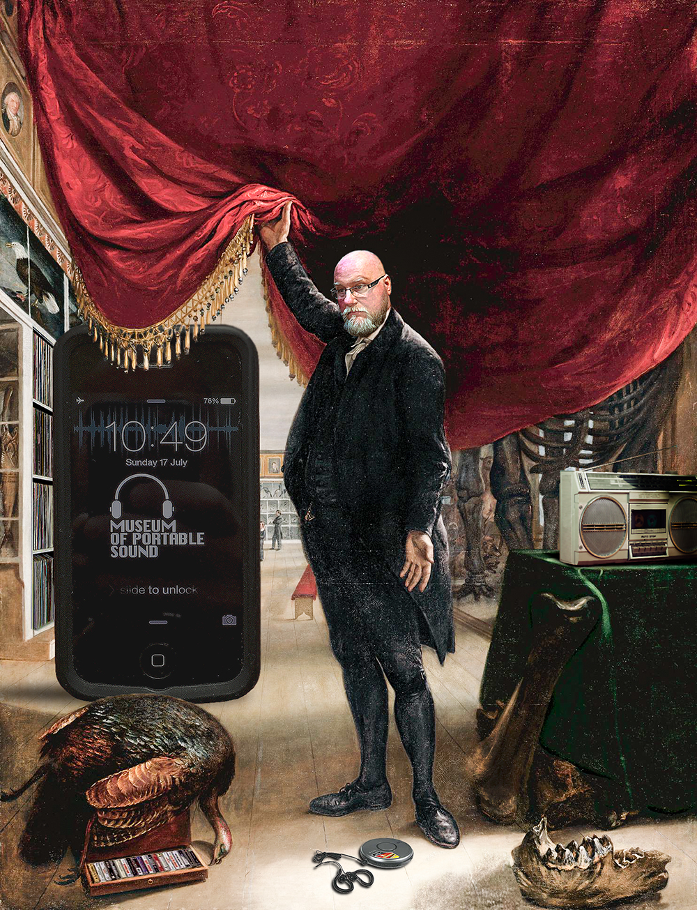 'The Artist In Front Of His Museum' - after C.W. Peale, 1822