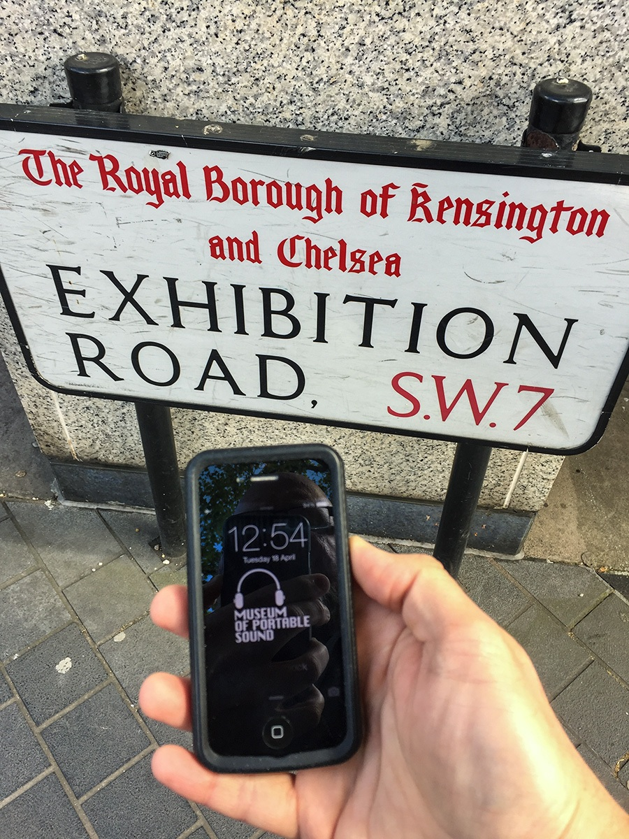 The Museum of Portable Sound on Exhibition Road, London, 2017.