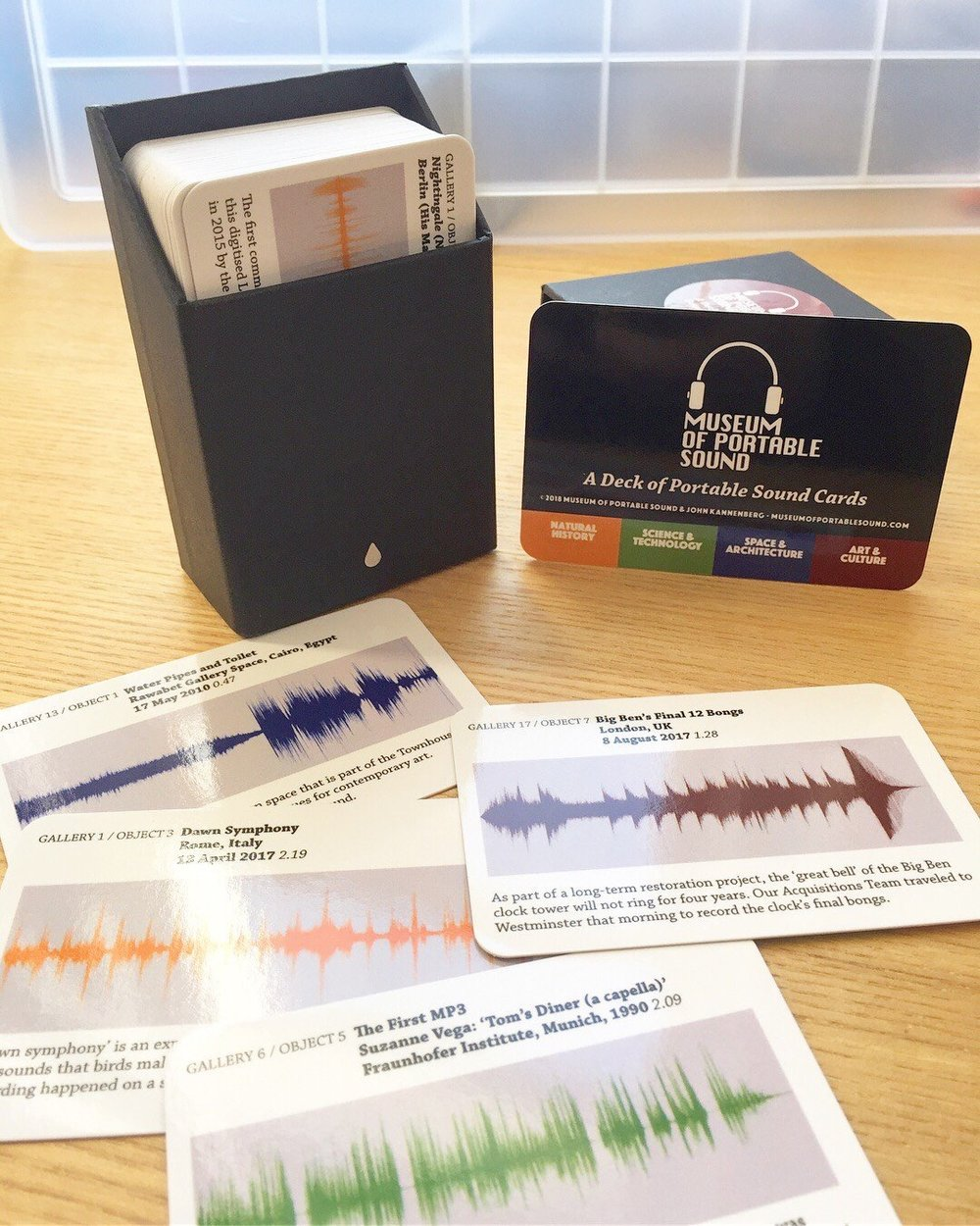 A Deck of Portable Sound Cards, produced by Museum of Portable Sound Press.