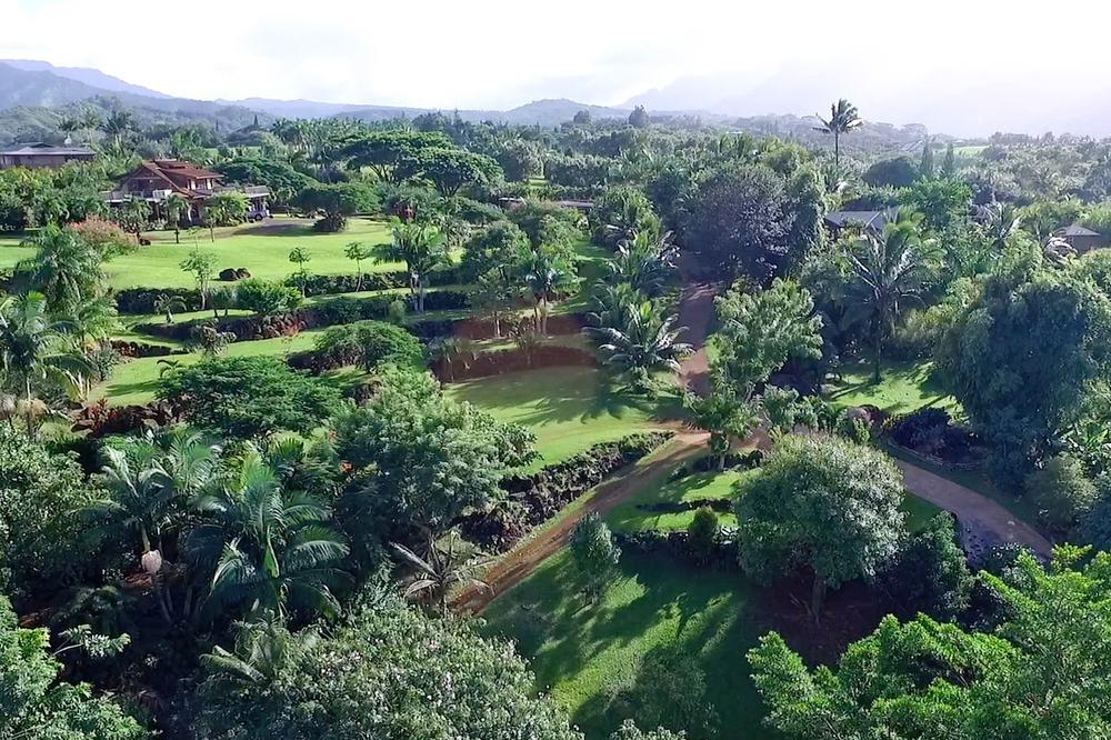 Princeville Botanical Gardens Aerials 1
