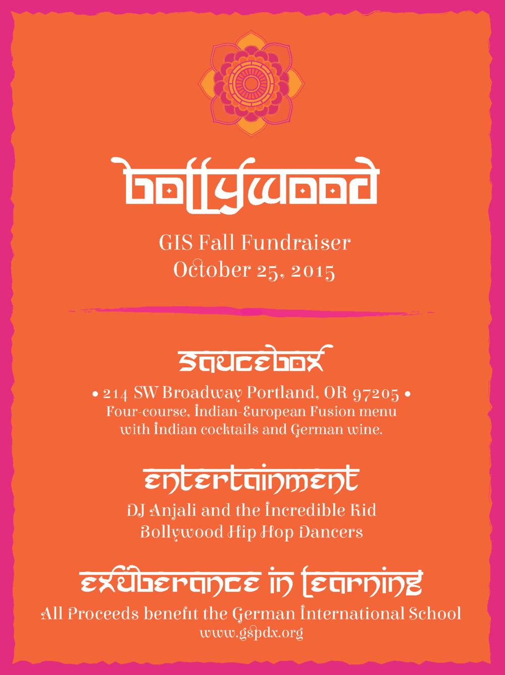 Bollywood Fundraiser Invitation_Front