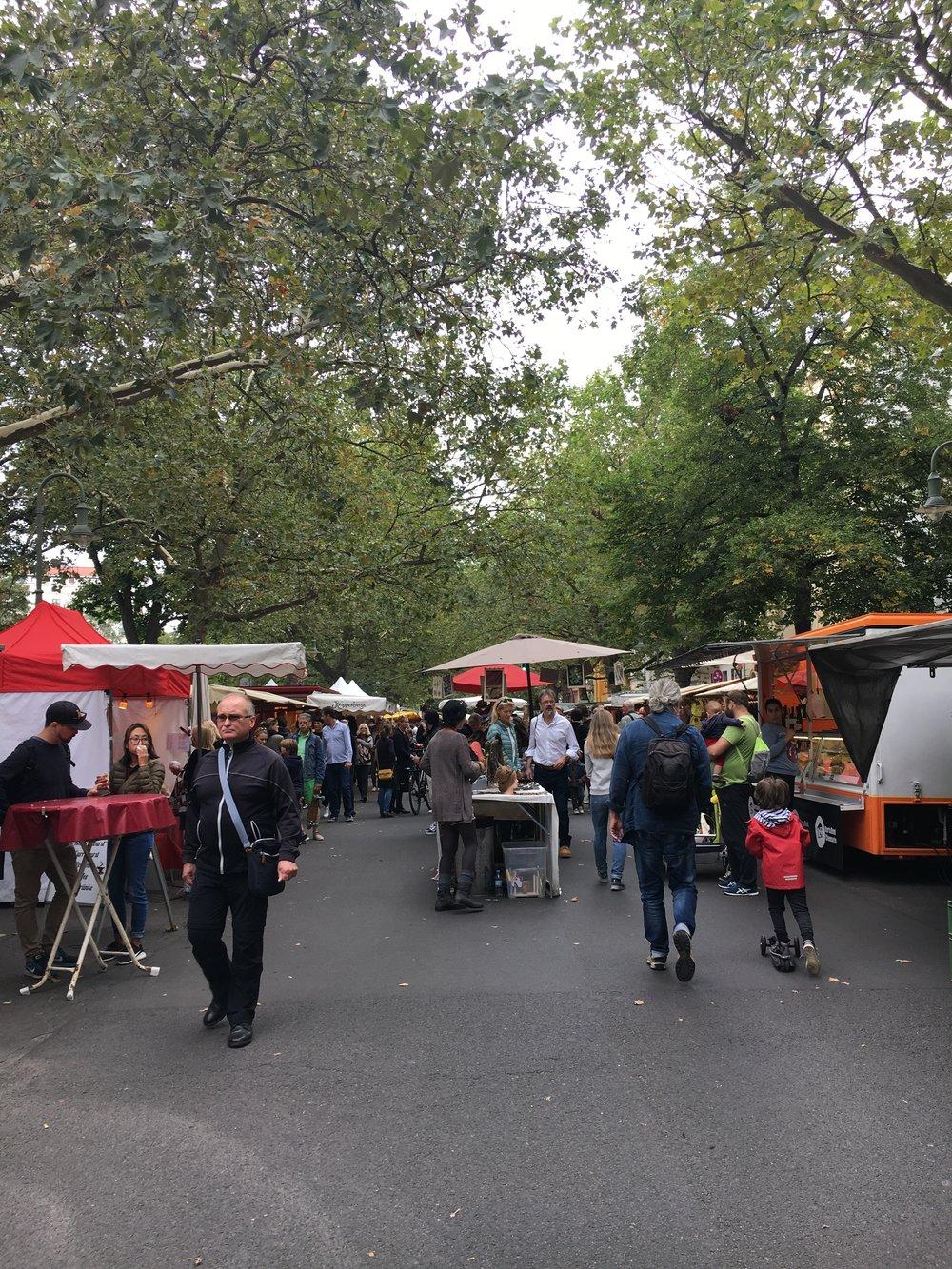 Wochenmarkt Kollwitzplatz