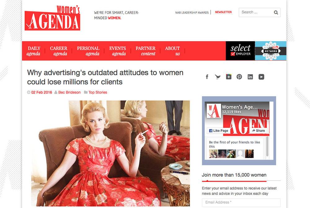 Originally posted on Women's Agenda on the 2 February 2016.