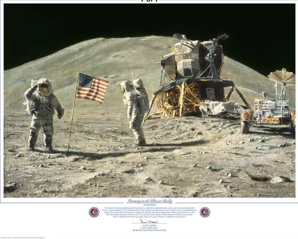 """""""Ceremony on the plain at Hadley"""" , by Alan Bean"""