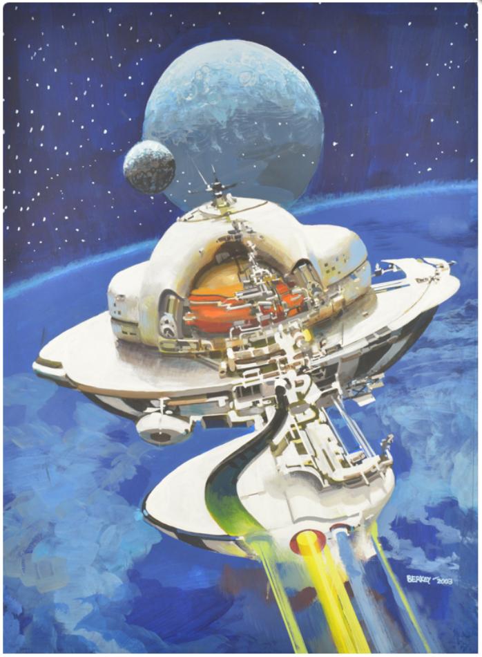 """Space Study"" , by John Berkey"
