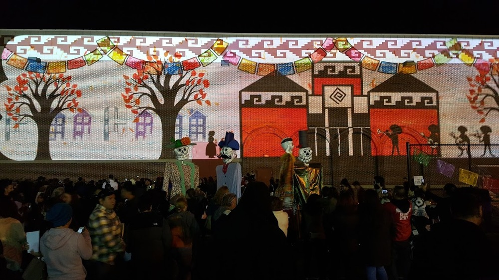 Still of the animation from the National Mexican Museum of Art- Dia De Los Muertos celebration