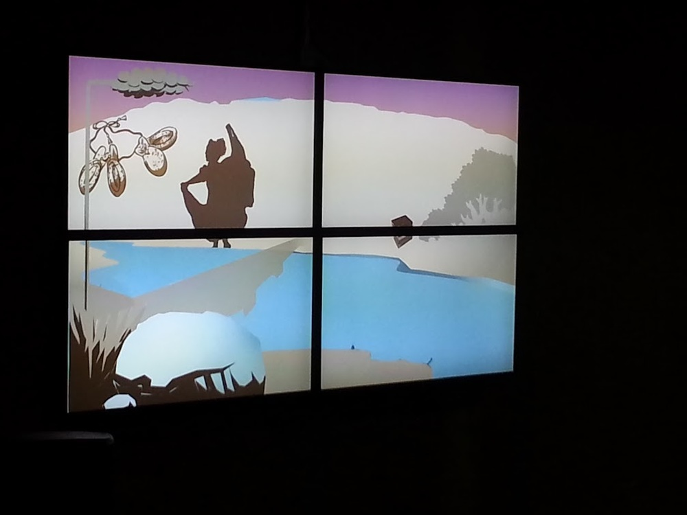 Image of the Video Mural created by: Working Classroom, Eric Garcia and Mark Anderson