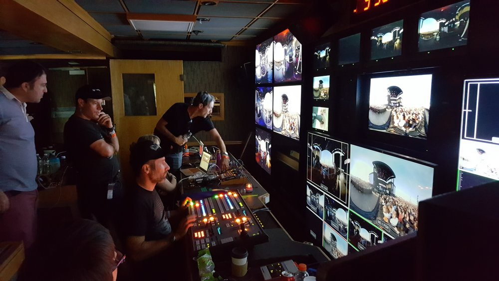 Control room of the 360 VR production truck