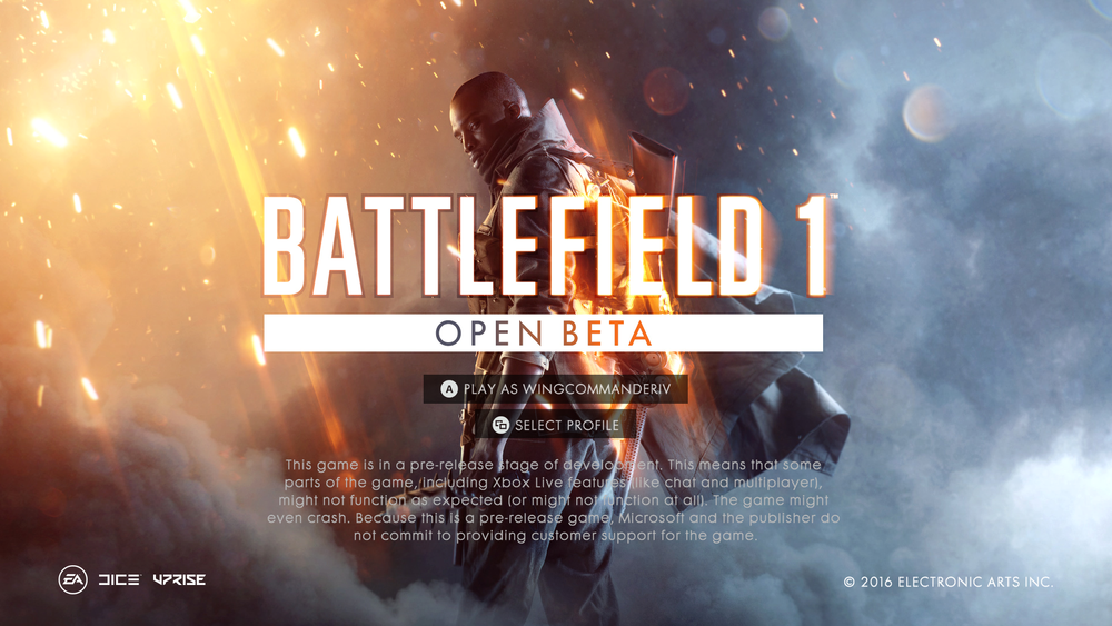 Battlefield One Preview