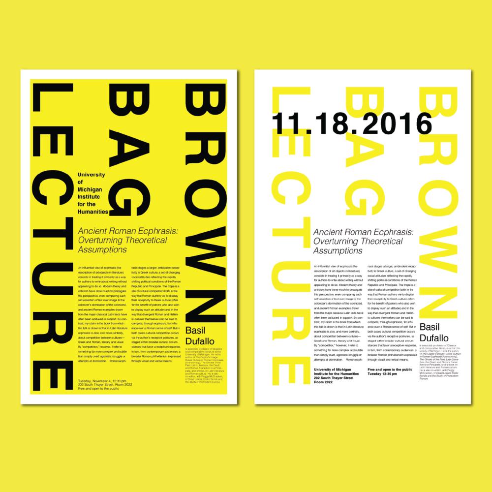Brown bag lecture series  Poster series