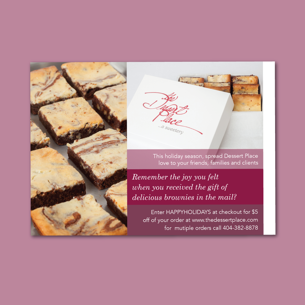 The Dessert Place   Postcard Mailer