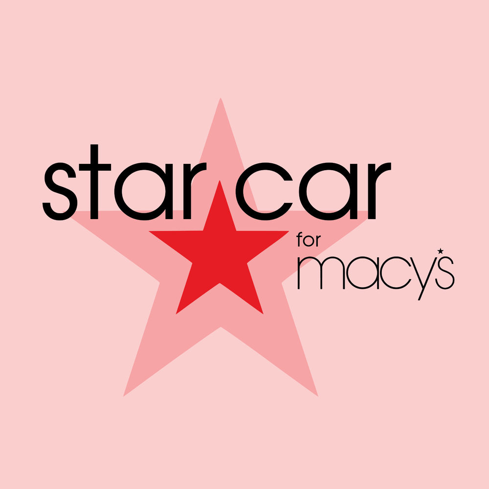 Star Car for Macy's Pop-up Shop   Logo and pop-up shop rendering