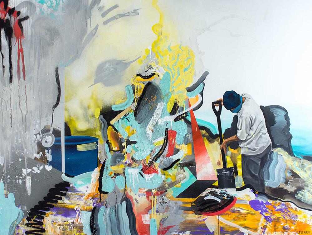 """""""i2"""" 130x100cm mixed media on canvas"""